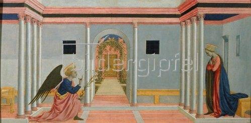 Domenico Veneziano: Die Verkündigung Mariae.