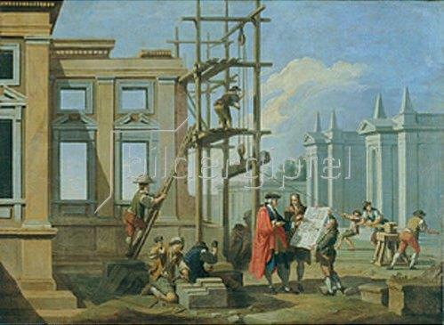 Giuseppe Zocchi: Die Architektur. 1753.