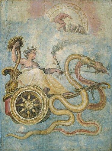 Giorgio Vasari: Der Wagen der Ceres (Göttin des Ackerbaus).