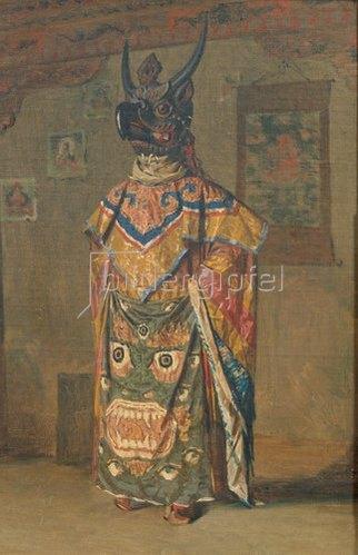 Wassili Werestschagin: Buddhistischer Lama während der Festtage im Kloster Pemionchi. 1874/1876