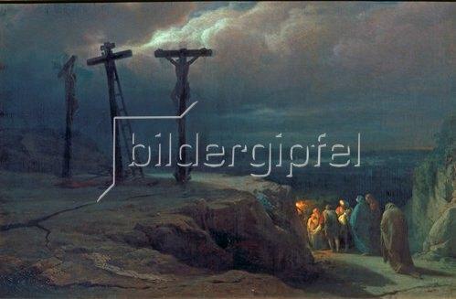 Wassili Werestschagin: Abend über Golgotha. 1869