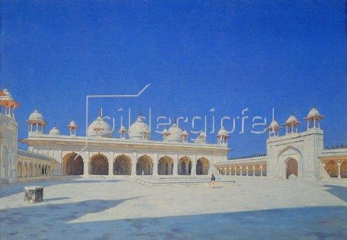 Wassili Werestschagin: Die Perlen- (Mothi-Maschdschid) Moschee in Agra. 1869