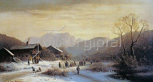 Anton Doll: Winterlandschaft