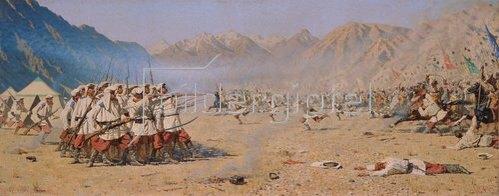 Wassili Werestschagin: Überraschender Angriff. 1871