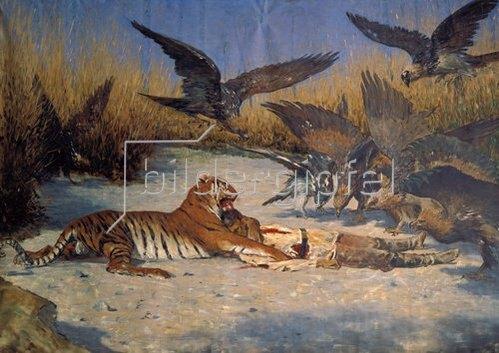Wassili Werestschagin: Menschenfresser (Tiger an einem toten Soldaten)