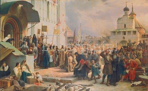Wassili Werestschagin: Die Belagerung des Klosters des Hl. Sergius bei Moskau. 1891