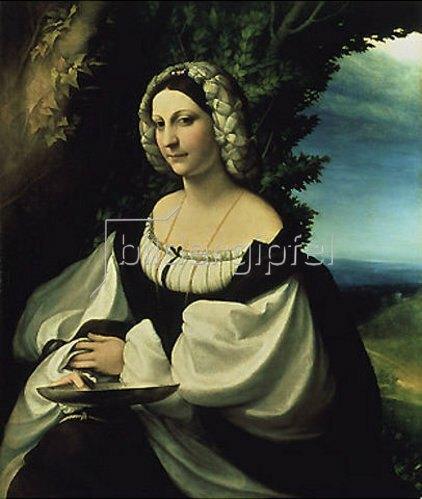 Correggio (Antonio Allegri): Weibliches Bildnis. Um 1519