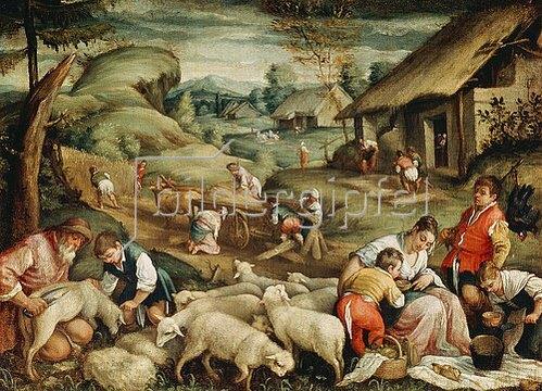 Bassano (Francesco da Ponte): Die Schafschur (Der Sommer). 1570/80