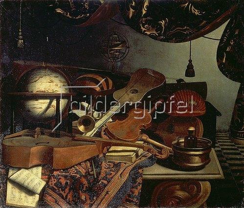 Bonaventura Bettera: Stillleben mit Musikinstrumenten. 1718.