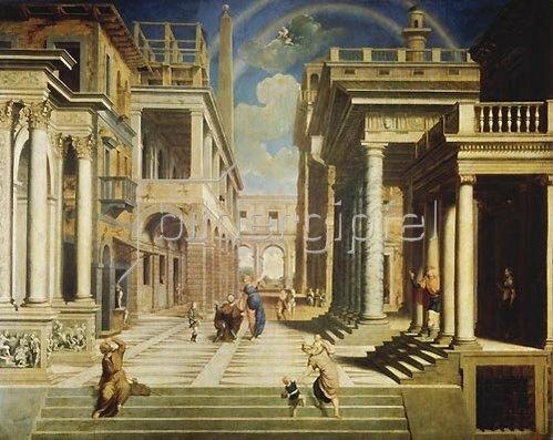 Paris Bordone: Die Seherin Sybille erscheint dem Caesar Augustus. 1535
