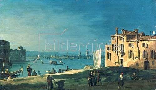 Atelier Canaletto: Blick von San Pietro auf die Insel Murano.