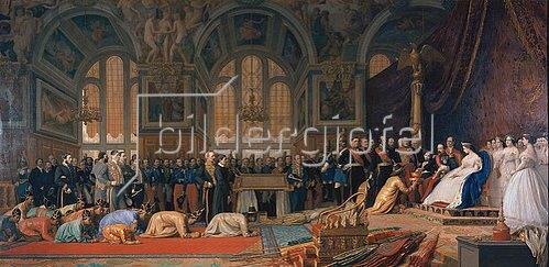 Jean-Léon Gérome: Empfang siamesischer Gesandter im Schloss Fontainebleau. 1861/1864