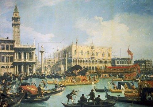 Canaletto (Giov.Antonio Canal): Die Rückkehr des Bucentaurus zum Dogen-Palast.