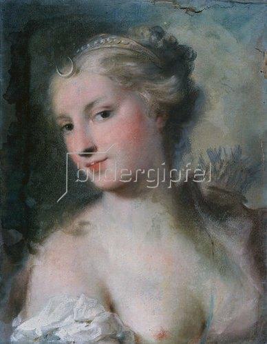 Rosalba Carriera: Diana. 1750.