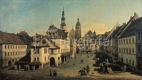 Bernardo (Canaletto) Bellotto: Der Marktplatz in Pirna. 1752/1754.