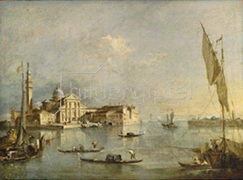Francesco Guardi: Blick zur Insel San Giorgio Maggiore. 1760/1770.