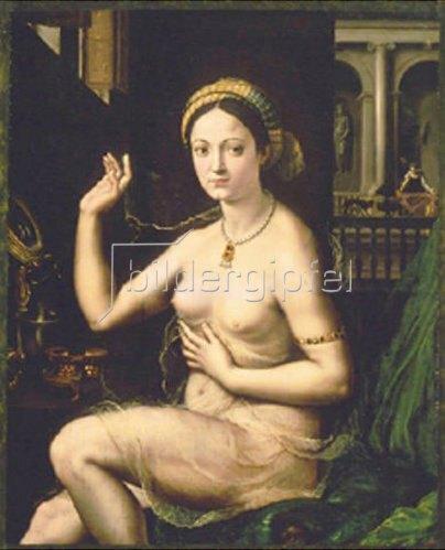 Giulio Romano (Giulio Pippi): Dame bei ihrer Toilette. Um 1520.