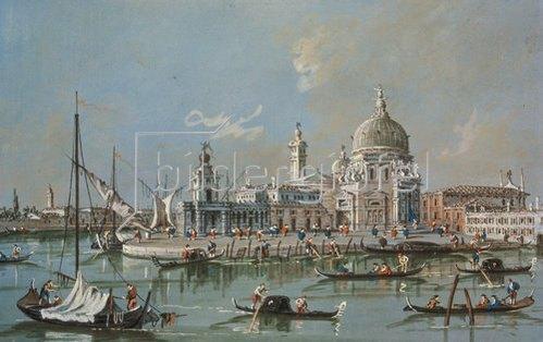 Francesco Guardi: Ansicht von Santa Maria Maggiore. 1760/70