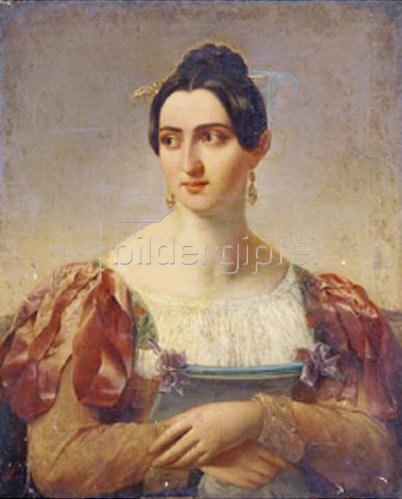 Italienischer Meister: Bildnis einer italienischen Dame. (19. Jhd.)
