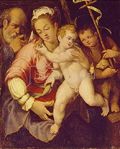Italienischer Meister: Die Hl. Familie mit den Johannes-Knaben.