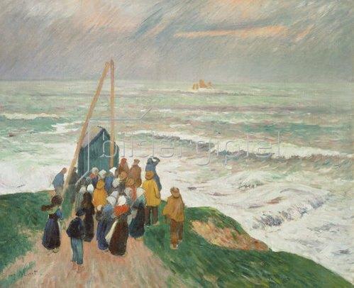 Henri Moret: In Erwartung der Fischer (Bretagne). 1894