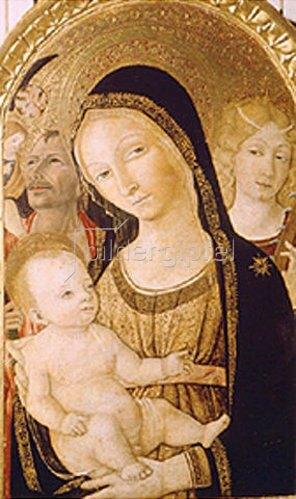 Giovanni di Bartolo Matteo: Madonna mit den Hll. Katharina und Christophorus.