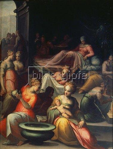 Giovanni Battista Naldini: Die Geburt des Hl. Johannes des Täufers.