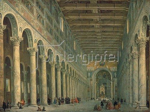 Giovanni Paolo Pannini: Inneres der Kirche San Paolo fuori le Mura in Rom. Um 1750.