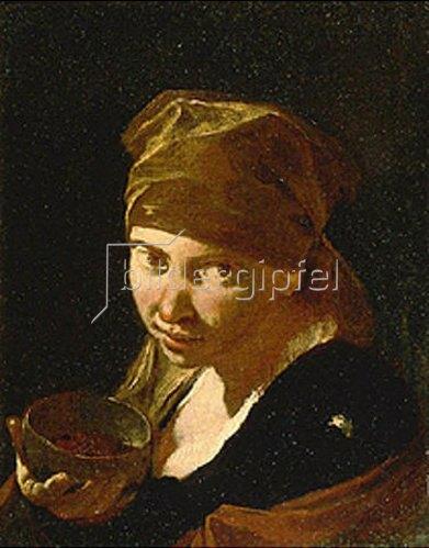 Giovanni Battista Piazzetta: Kopf eines Mädchens.