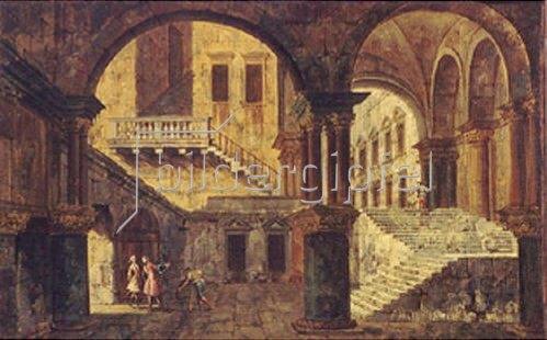 Michele Marieschi: Treppenhaus in einem venezianischen Palazzo.