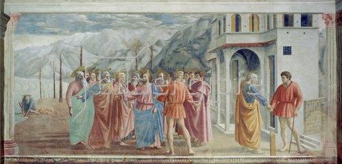 Masaccio: Der Zinsgroschen. Um 1426-27