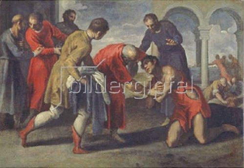 Palma il Giovane eigentlich Negretti Jacopo: Die Heimkehr des Verlorenen Sohnes. Nach 1600.