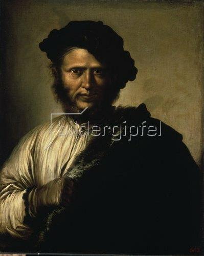 Salvator Rosa: Männliches Bildnis. 1640