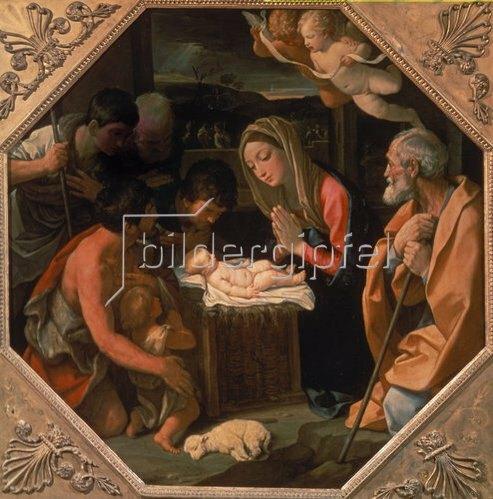 Guido Reni: Die Anbetung des Christkindes durch die Hirten. Um 1640.