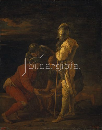 Salvator Rosa: Soldaten beim Würfelspiel. Um 1656