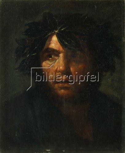 Salvator Rosa: Mann mit Lorbeerkranz.