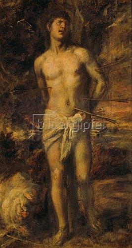 Tizian (Tiziano Vecellio): Der Hl. Sebastian.