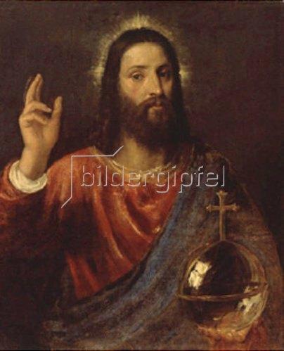 Tizian (Tiziano Vecellio): Christus Salvator. Um 1570.