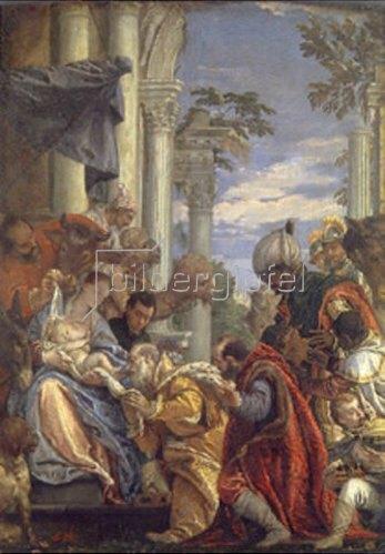 Paolo (Paolo Caliari) Veronese: Die Anbetung des Christkindes durch die Hl. drei Könige. 1570-er Jahre