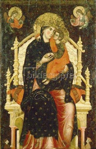 Venezianisch: Maria mit dem Kind auf dem Thron. Frühes 14. Jahrhundert