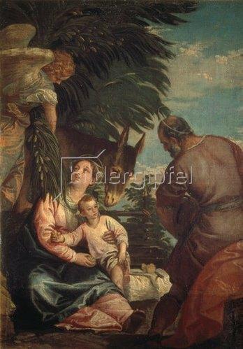 Paolo (Paolo Caliari) Veronese: Rast auf der Flucht nach Ägypten.