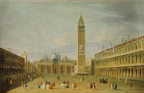 Francesco Tironi: Venedig, Piazza San Marco.
