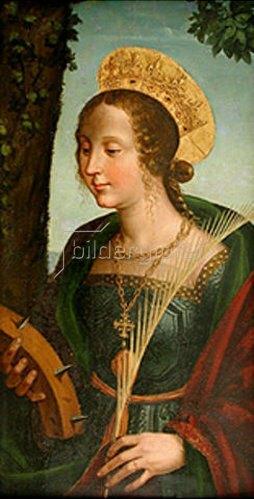 Piemonteser Meister: Die Hl. Katharina von Alexandrien.