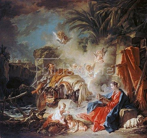 François Boucher: Rast auf der Flucht nach Ägypten. 1757
