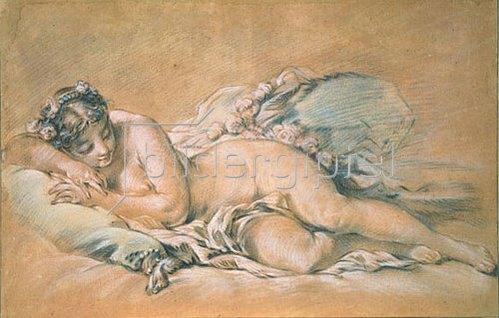 François Boucher: Schlafender weiblicher Akt. 1758.