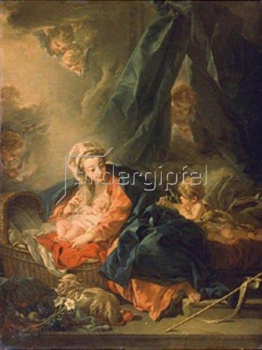 François Boucher: Maria mit dem Kind und dem Johannesknaben. 1758.