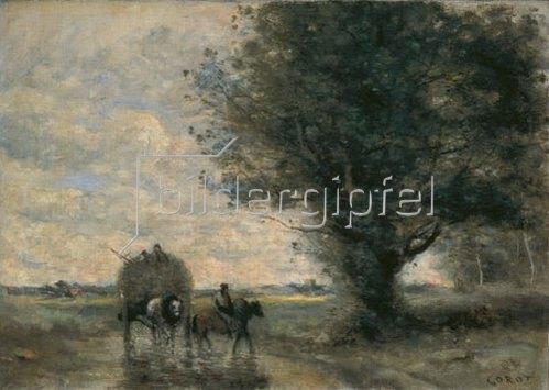 Jean-Baptiste Camille Corot: Der Heuwagen. 1865/1870.
