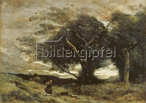 Jean-Baptiste Camille Corot: Ein Windstoss. 1864/1873.