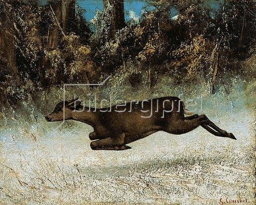 Gustave Courbet: Fliehendes Reh.