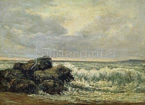 Gustave Courbet: Die Welle. Um 1870.